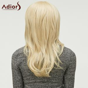 Fluffy Light Blonde Trendy Natural Wave Full Bang Long Heat Resistant Synthetic Capless Wig For Women - GOLDEN
