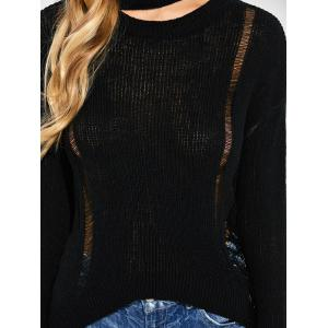 Comfy Oversized Distressed Sweater -