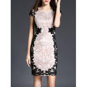 Embroidery Lace Short Sheath Formal Dress