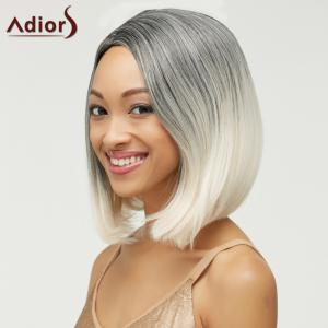 Trendy Short Straight Mixed Color Side Parting Women's Synthetic Hair Wig - COLORMIX