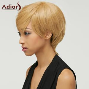 Trendy Mixed Color Short Fluffy Side Bang Women's Synthetic Hair Wig - COLORMIX