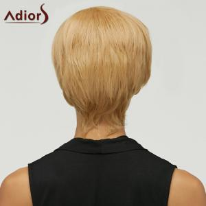 Trendy Mixed Color Short Fluffy Side Bang Women's Synthetic Hair Wig -