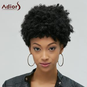 Fascinating Short Afro Curly Synthetic Capless Wig - BLACK