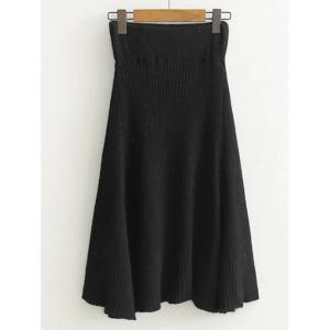High Waist Midi Sweater Skirt