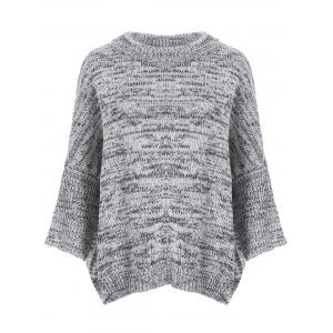 Dolman Sleeve Heathered Sweater