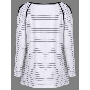 Contrast Trim Striped T-Shirt -