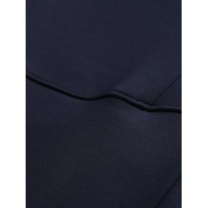 Sports Jogging Pants with Zip - CADETBLUE 2XL