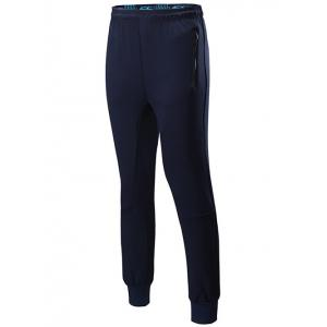 Sports Jogging Pants with Zip - Cadetblue - M