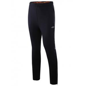 Sports Pants with Zip - Black - Xl