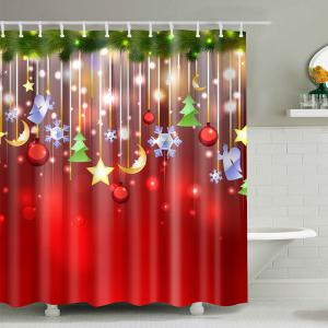 Christmas Waterproof Mouldproof Shower Curtain - Colormix - L