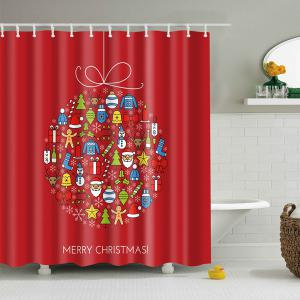 Christmas Bathroom Decor Waterproof Shower Curtain