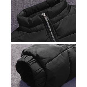 Zippered Elastic Cuff Noctilucent Padded Jacket -