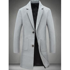 Patch Pocket Plain Two Button Coat