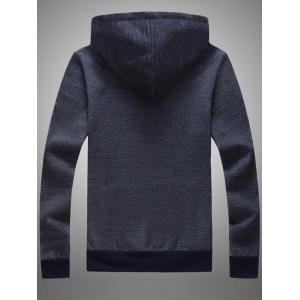 Lace Up Pocket Front Graphic Hoodie - CADETBLUE 2XL