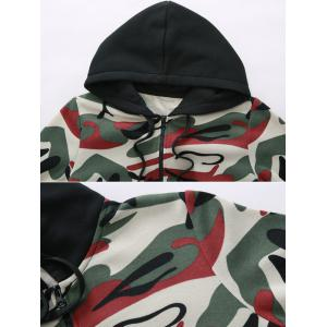 Pocket Camo Zip Up Hoodie -