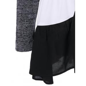 Color Block Tiered T-Shirt - COLORMIX M