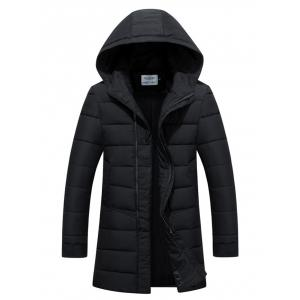 Slim Fit Zip Up Padded Hooded Quilted Coat