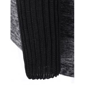 Knitted Patchwork Side Zipper Jacket -