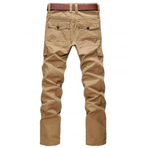 Zip Fly Straight Leg Cargo Pants with Pockets - EARTHY 36