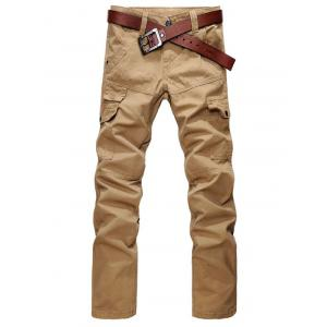 Zip Fly Straight Leg Cargo Pants with Pockets