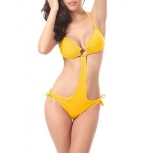 String Moulded Halter One Piece Swimwear
