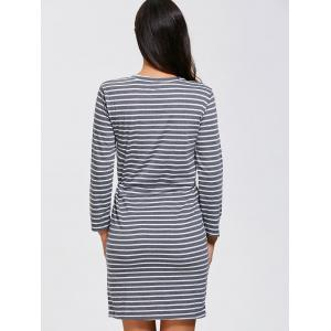 Double Pocket Stripe Dress -
