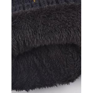 Winter Pom Ball Flanging Knitted Hat -