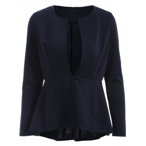 Asymmetrical High Waist Panel Jacket