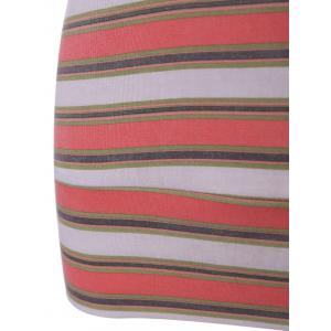 Striped Halter Backless Tank Top -