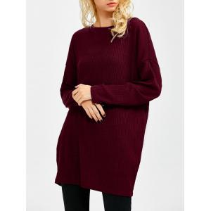 Skew Neck Long Sleeve Sweater