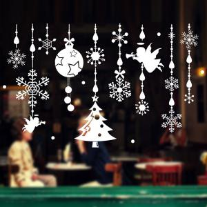 Removable DIY Pendants Christmas Window Wall Stickers -