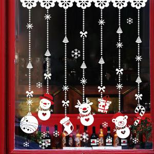 Removable DIY Snowman Pendants Christmas Wall Stickers
