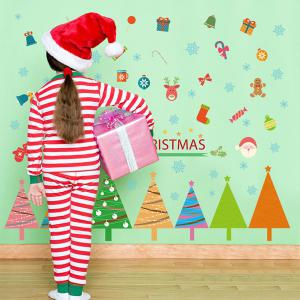Christmas Removable DIY Room Decor Wall Stickers - COLORFUL