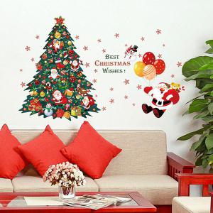 Merry Christmas DIY Xmas Tree Living Room Wall Stickers - Colorful
