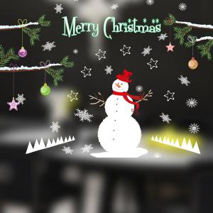 Removable DIY Snowman Pattern Christmas Wall Stickers -
