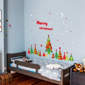 Christmas Removable DIY Xmas Tree Room Decor Wall Stickers - COLORFUL