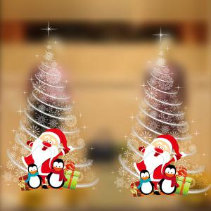 Christmas Tree Wall Stickers Shop Showcase Decoration - White