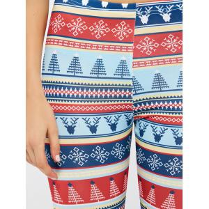 Christmas Ornate Print Leggings - COLORMIX XL