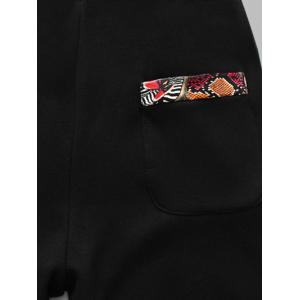 Plus Size Insert Zip Up Flocking Hoodie and Pants Twinset -