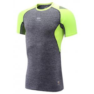Color Block Spliced Quick Dry Raglan Sleeve Fitness T-Shirt