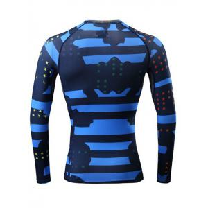 Stars and Stripes Print Quick Dry Raglan Sleeve Fitness T-Shirt -