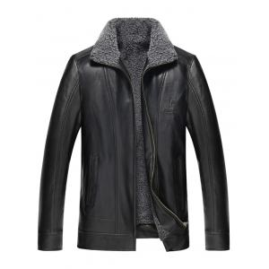 PU Leather Flocking Jacket