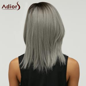 Double Color Short Side Parting Straight Synthetic Capless Bob Wig - COLORMIX