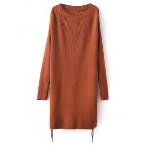 Side Slit Long Sweater