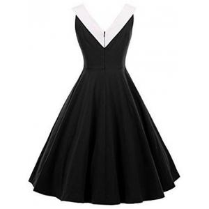 Fit and Flare Vintage Sleeveless Dress -