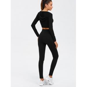 Twin-set crop top à manches longues et pantalon à cordon -