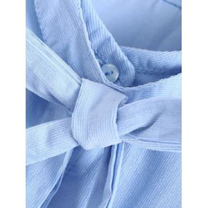 Bowknot Patched Fitting Embroidered Shirts -