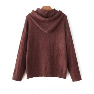 Hooded Long Sleeve Sweater -