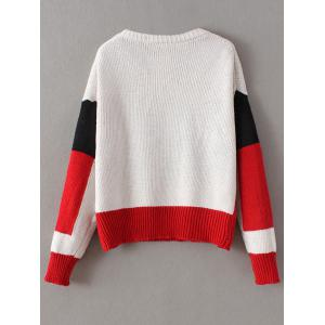 Chunky Color Block Sweater -