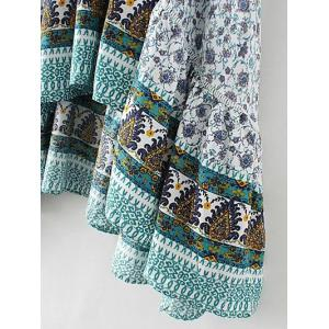 Bohemian Patterned High Low Maxi Skirt -